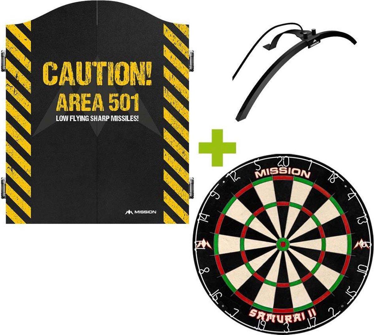 Mission Deluxe Caution 501 Dartkabinet + Mission Samurai 2 +