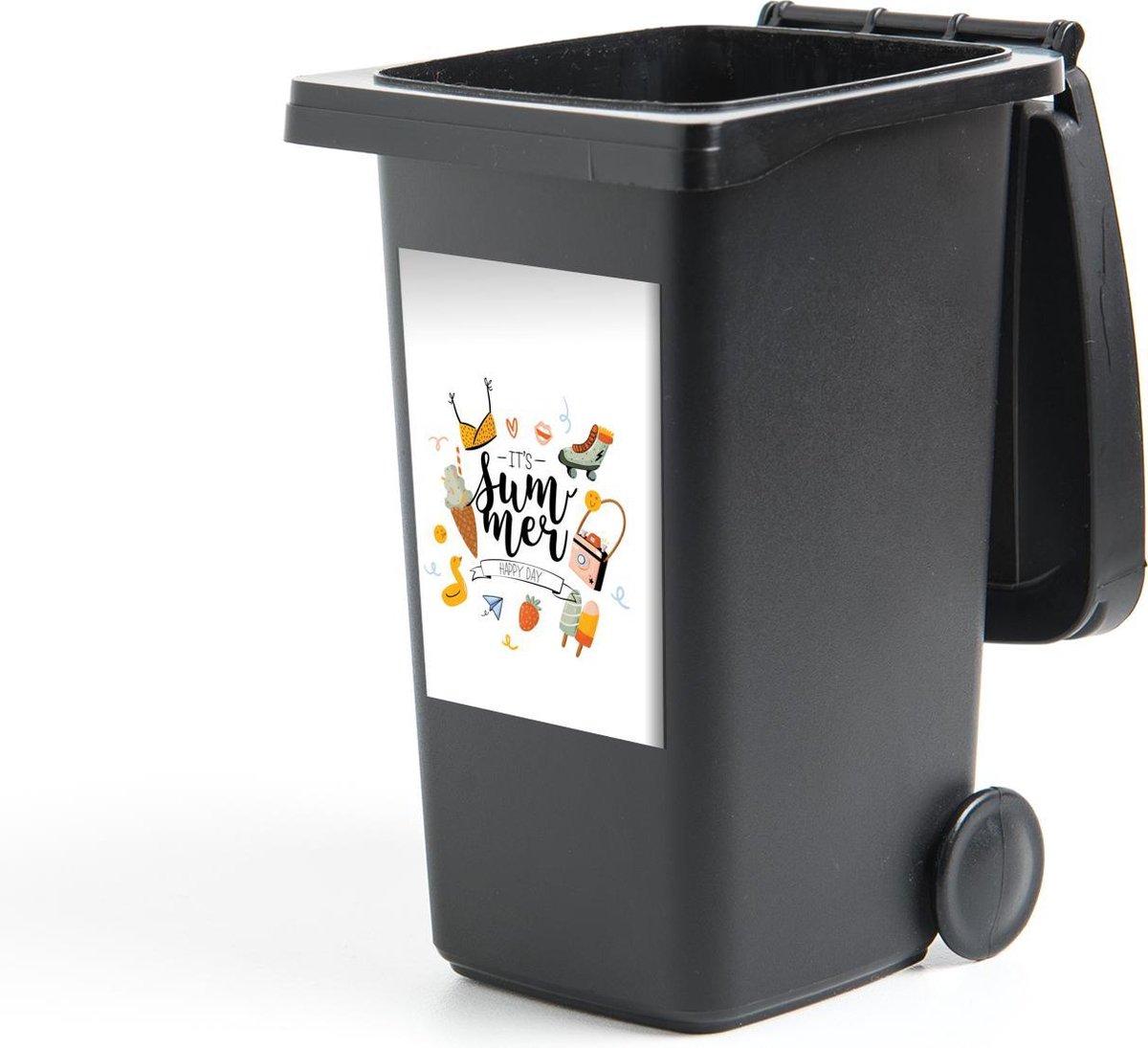 Container sticker Zomer - Camera - Rolschaatsen - 40x60 cm - Kliko sticker