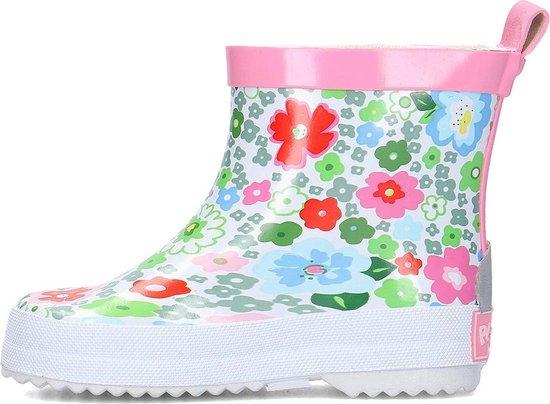 Playshoes halfhoge regenlaarzen roze bloemen