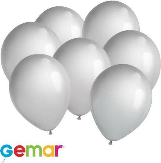 30x ballonnen Metallic Zilver (Ook geschikt voor Helium)