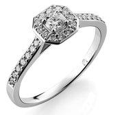 Orphelia RD-3915/50 - Ring - 18 Karaat Witgoud / Diamant 0.41 crt - Maat 50
