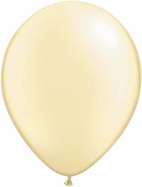 Qualatex ballonnen 100 stuks Pearl Ivory