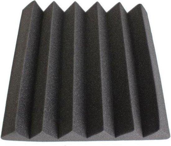 Wedge akoestisch studioschuim 30x30cm 2,5cm dik (12 stuks)