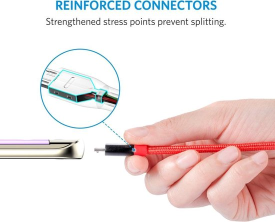 Anker PowerLine+ Micro USB Kabel 0.9m - Rood - Anker