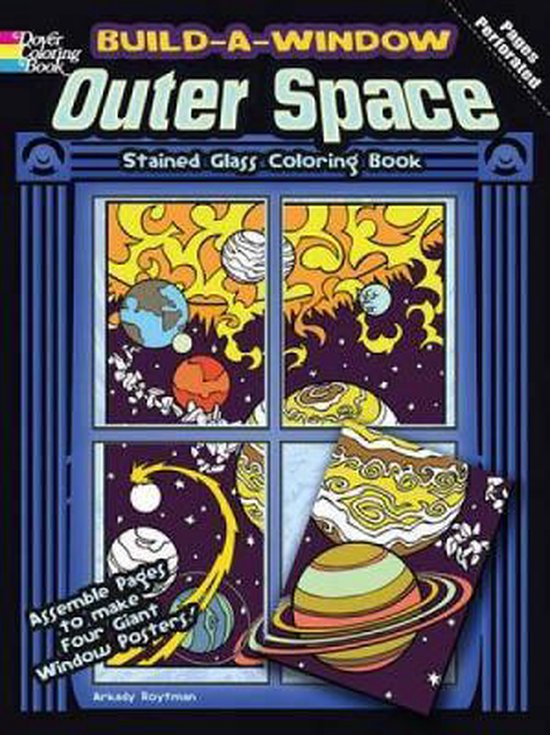 Build a Window Stained Glass Coloring Book, Outer Space
