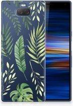 Sony Xperia 10 Plus Uniek TPU Hoesje Leaves