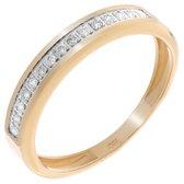 Orphelia RD-33336/54 - Ring - geelgoudkleurige 18 Karaat - Diamant 0.12 ct
