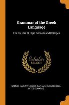 Grammar of the Greek Language