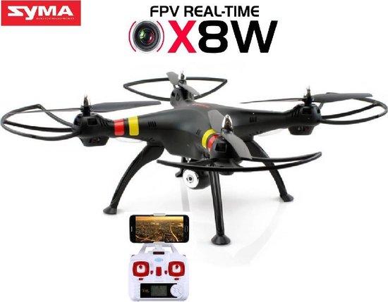 Syma X8W met HD 720P live Camera  Zwart