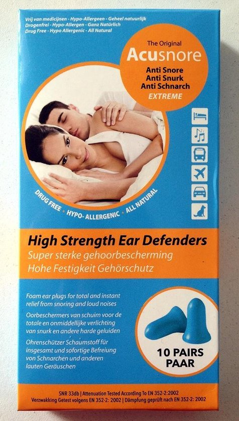 Acusnore Gehoorbescherming - Anti Snurk 10paar