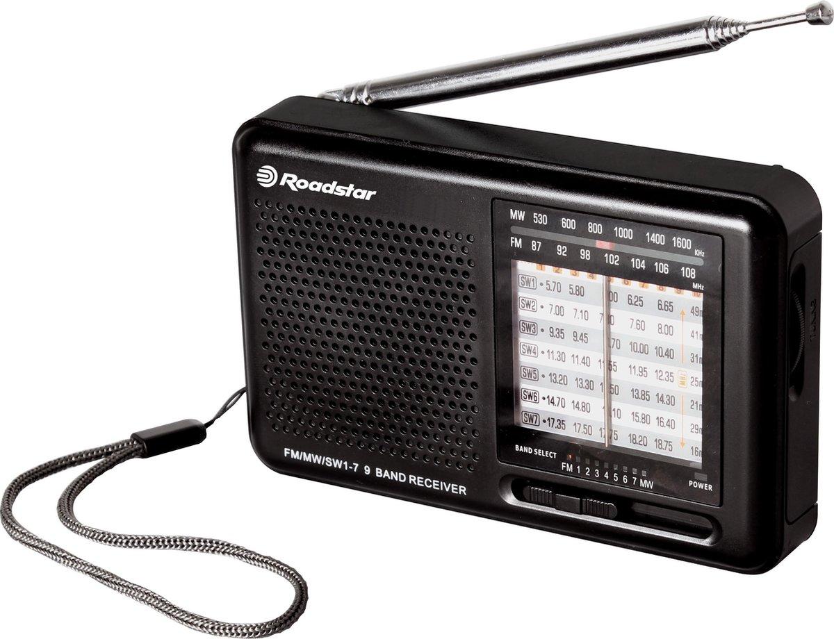 Roadstar TRA-2989 Transistorradio Korte golf, AM, FM Radio, FM, Middengolf, Korte golf Zwart