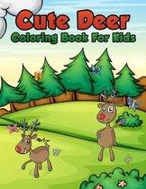 Cute Deer Coloring Book For Kids