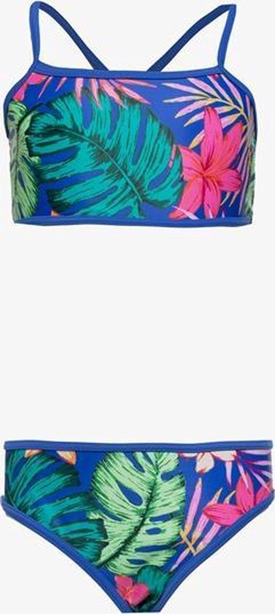 Osaga meisjes bikini met bloemenprint - Blauw - Maat 152