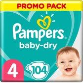 Pampers Luiers Baby Dry Maat 4 (9-14 kg) 104 Stuks