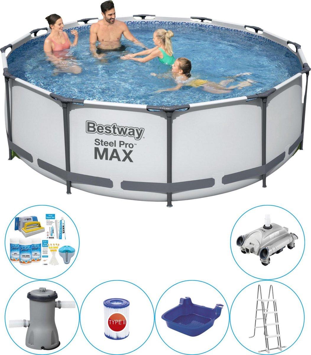 Bestway Steel Pro MAX Rond 366x100 cm - 7-delig - Zwembad Combinatie Set