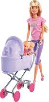 Steffi Love met Kinderwagen en Baby's