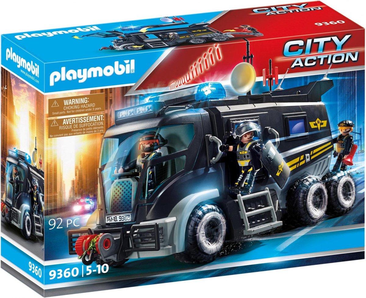 PLAYMOBIL City Action SIE-truck met licht en geluid - 9360