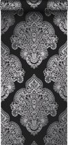 Origin behang ornamenten zwart - 345916 - 53 x 1005 cm