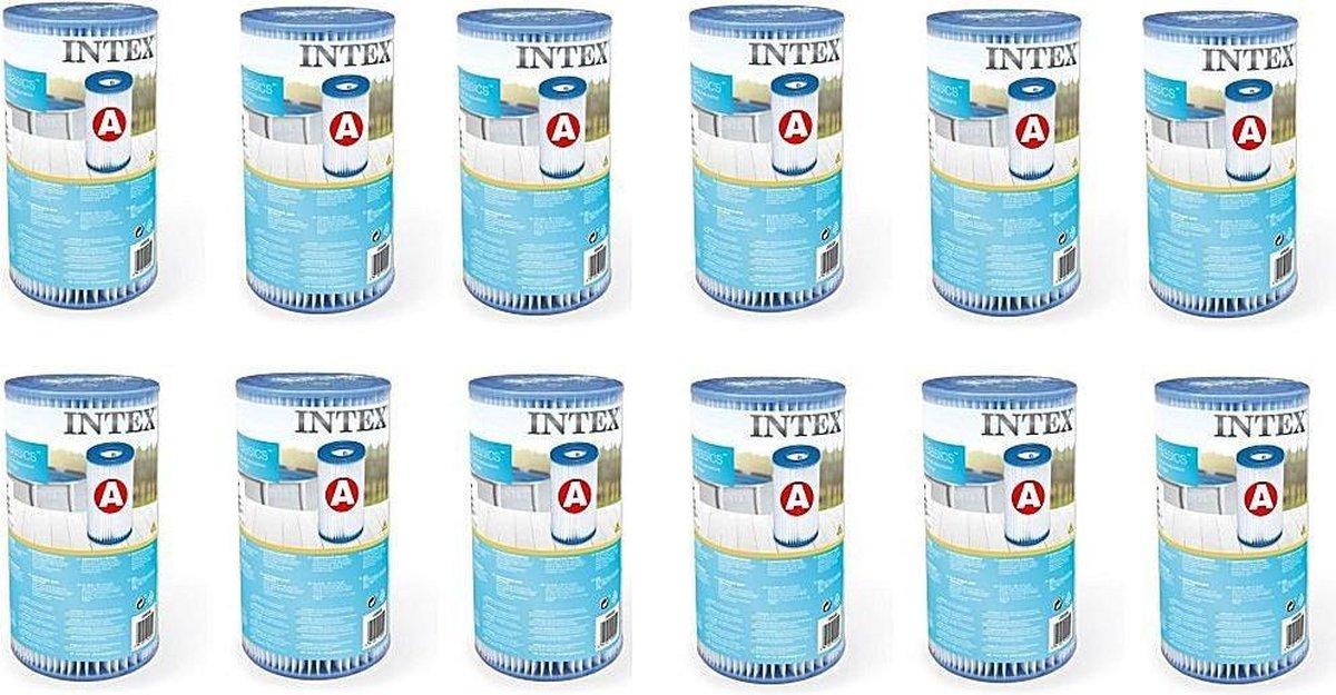 Intex 29000 Filter Cartridge Type A 12 Stuks voor Zwembad 244/305/366 cm