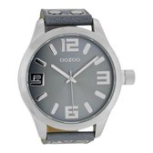 OOZOO Timepieces C1010 - Horloge - 50 mm - Leer - Grijs
