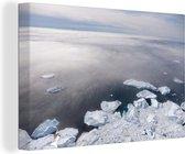 Noordpool Canvas 180x120 cm - Foto print op Canvas schilderij (Wanddecoratie woonkamer / slaapkamer) XXL / Groot formaat!