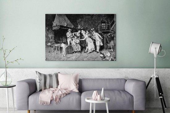 Bol Com Canvas Schilderijen Een Landelijke Illustratie Van Een Napoleontische Familie