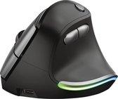 Trust Bayo - Ergonomische muis - Draadloos met USB-receiver - Oplaadbaar - Zwart