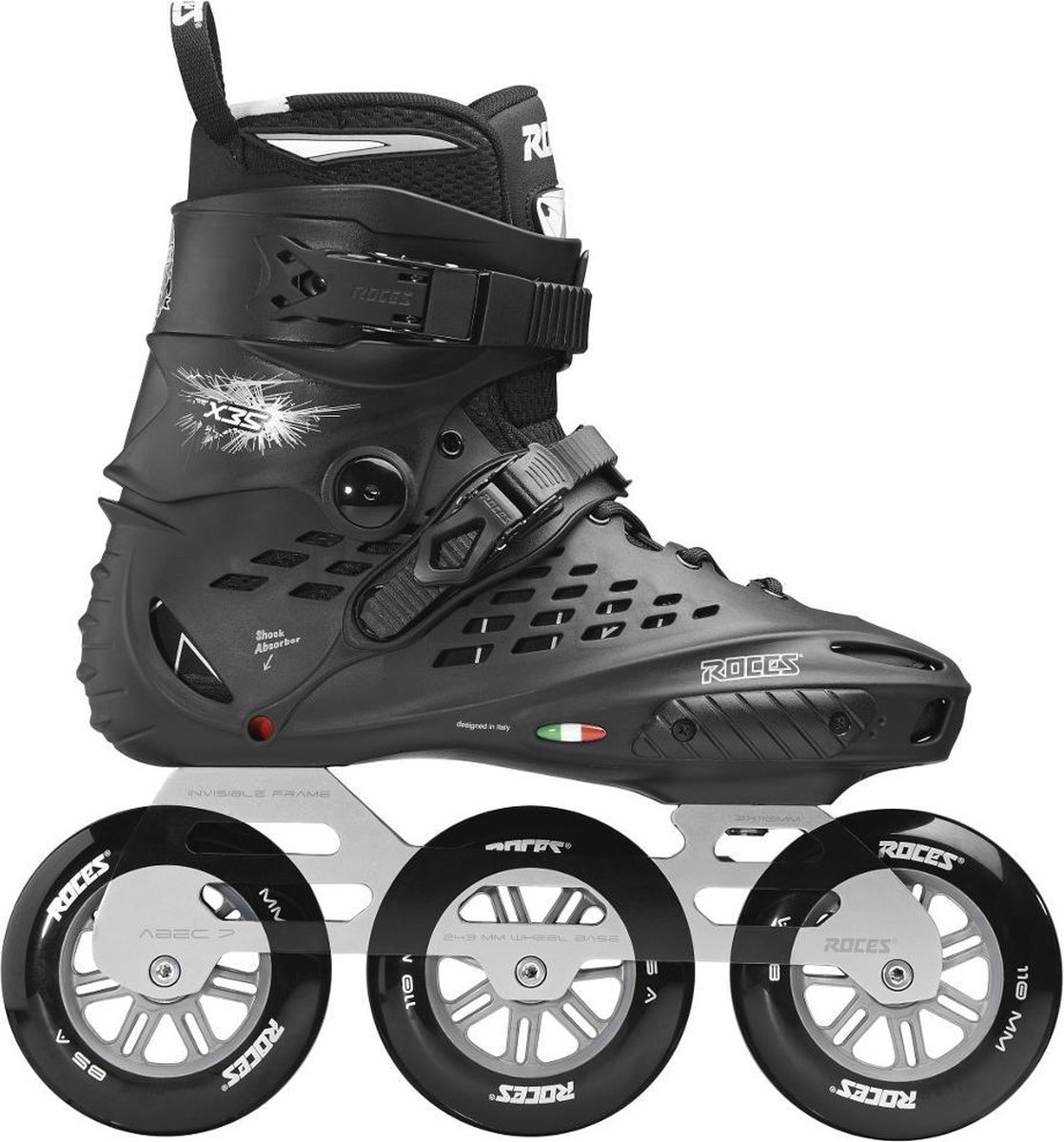 Roces X35 inline skates 110 mm black / silver
