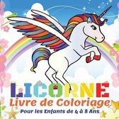 Licorne Livre de Coloriage Pour les Enfants de 4 a 8 Ans