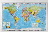 NAGA  Wereldkaart 137x89cm