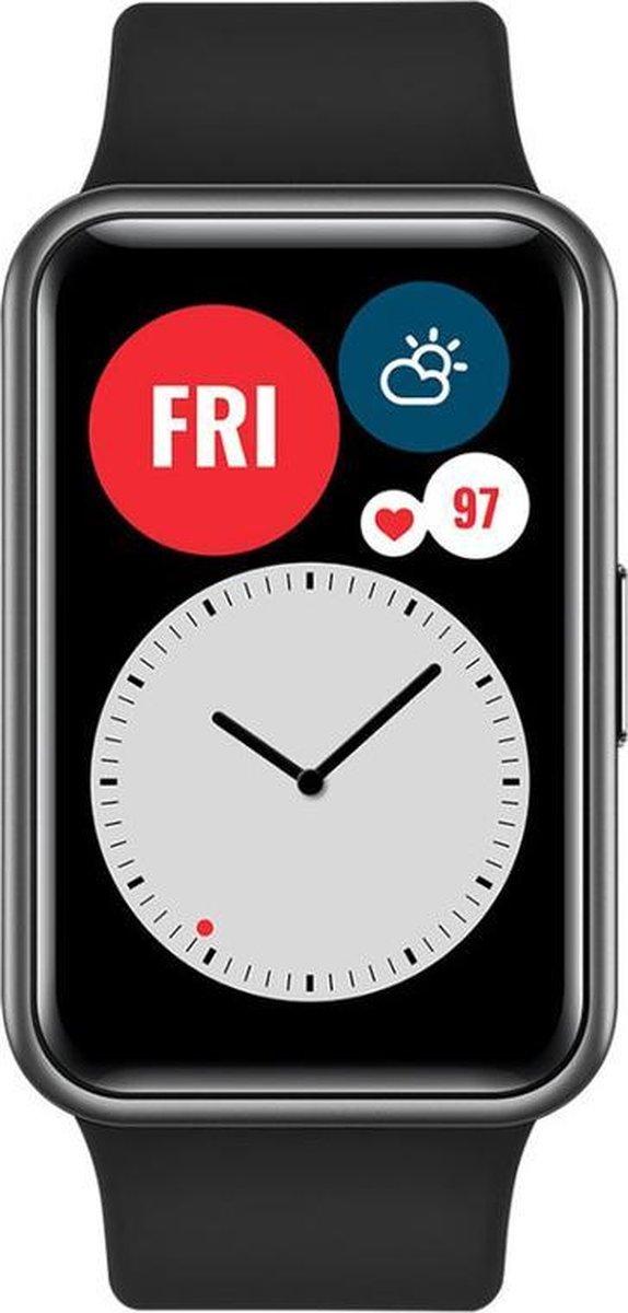 HUAWEI WATCH FIT - Smartwatch - Continue meeting van SpO2/harstlag/slaap/stress - 2 weken batterijdu