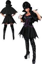 Zwart vampierskostuum voor vrouwen - Verkleedkleding - Large