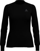 Odlo Bl Top Crew Neck L/S Active Warm Dames Thermoshirt - Black - Maat S