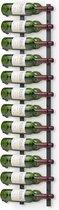 Final Touch Wijnrek Muur - 120 cm hoog - Metaal - 24 flessen - Wandmontage