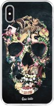Apple iPhone XS Max hoesje Vintage Skull Casetastic Smartphone Hoesje softcover case
