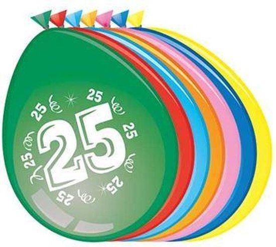 Ballonnen 25 jaar - 30cm - 8st