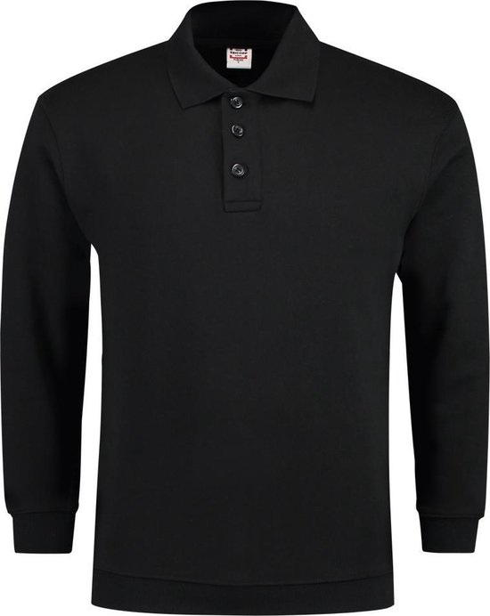 Tricorp casual Polo/Sweater boord - 301005 - Zwart - maat XL