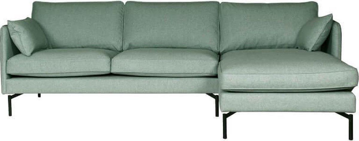 HomingXL Hoekbank Zinnia chaise longue rechts - stof Varese blauw 21 - 2,50 x 1,60 mtr breed - HomingXL