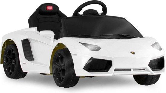 Bol Com Lamborghini Aventador Elektrische Kinderauto 3 8 Jaar 6 V Wit