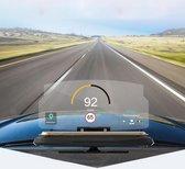 Universele mobiele GPS-navigatiebeugel HUD Head Up Display Car Mobiele telefoon Mount Stand (met 3M Adhesive Fixed Version), voor iPhone, Samsung, LG, Nokia, HTC, Xiaomi, Sony, Huawei en andere smartphones (zwart)