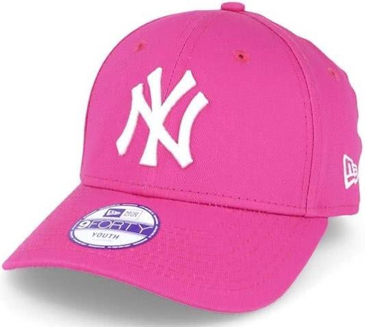 New Era K 940 MLB LEAGUE BASIC New York Cap - Pink - 6-12 jaar