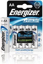 Energizer Ultimate Lithium Mignon - AA LR 6 - 1,5V - 1x4 stuks