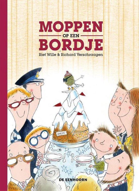 Boek cover Moppen op een bordje van Riet Wille (Hardcover)