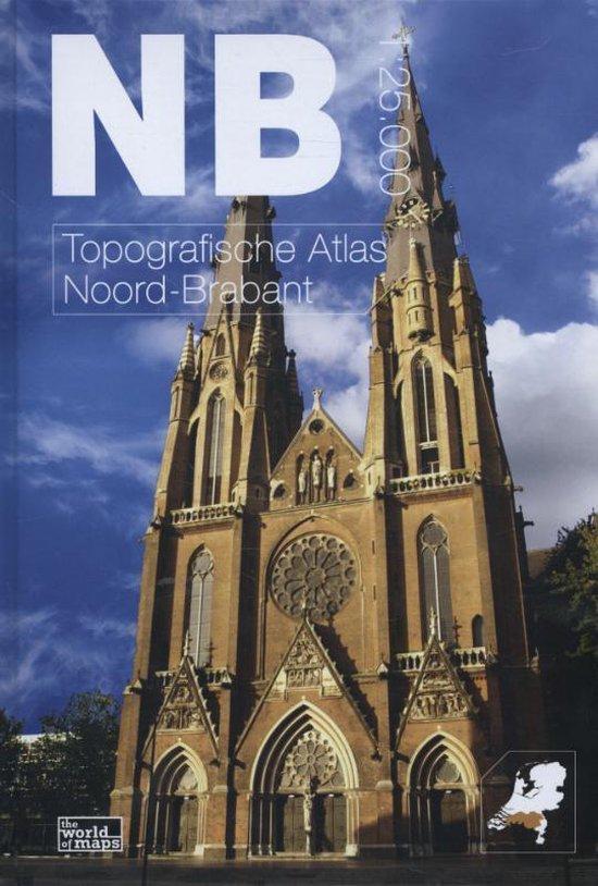Boek cover Topografische atlas van Noord-Brabant van Thomas Vermeulen (Hardcover)