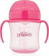 Dr. Browns trainings Drinkbeker - Met zachte tuit - 180 ml - roze