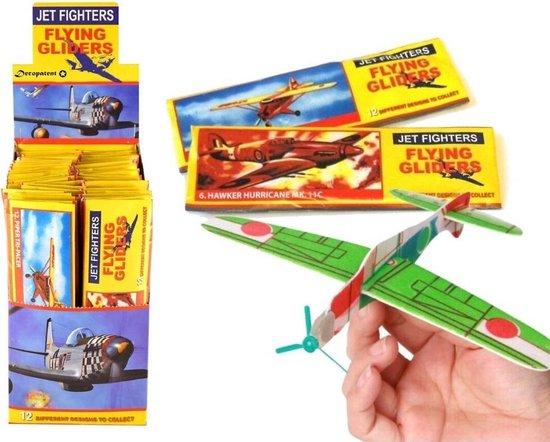 48 STUKS   Uitdeelcadeautjes - Fighter Gliders - Model: Foam Vliegtuigen (48 stuks)