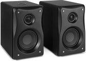 Studio speakers - Vonyx BX40 actieve studio monitor Bluetooth speakers - klasse-D - mp3 speler - 2-weg 4 inch speakerset - 80W