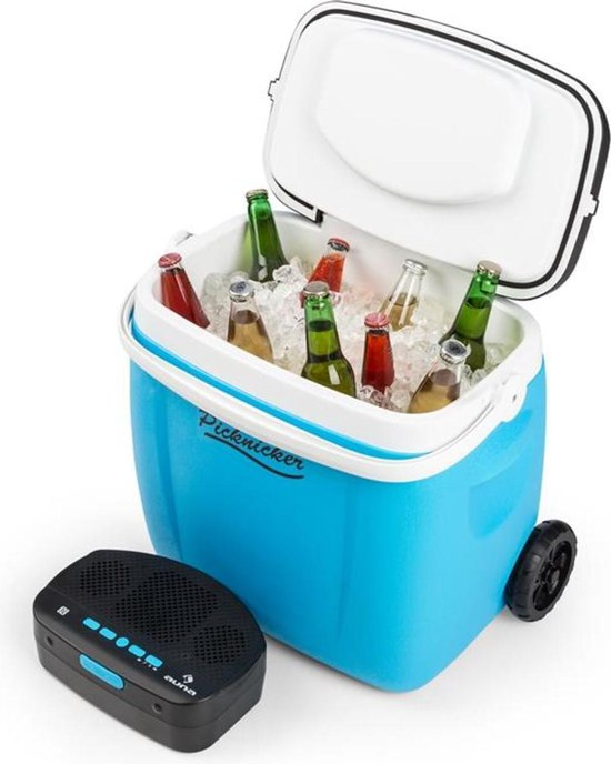 Koelkast: Picknick Trolley muzikale cooler 36l koelboxtrolley BT luidspreker - grijs, van het merk Auna