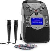 Karaoke set - Auna ScreenStar karaoke set met ingebouwde camera en kleurenscherm, CD+G en mp3 speler, opname mogelijkheid & 2 microfoons - De perfecte set voor de echte topartiest! - Zwart
