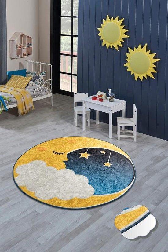Bol Com Nerge Be Vloerkleed Kinderkamer Moon Playmat Voor Kinderen Slaapkamer Speelkamer